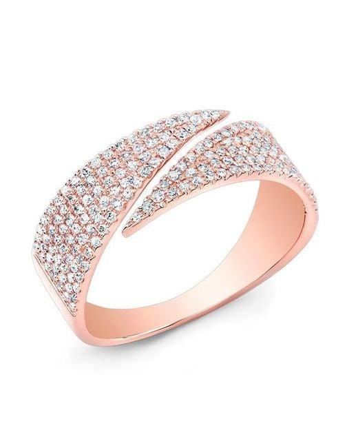Anne Sisteron | Metallic 14kt Rose Gold Diamond Full Spike Wrap Ring | Lyst