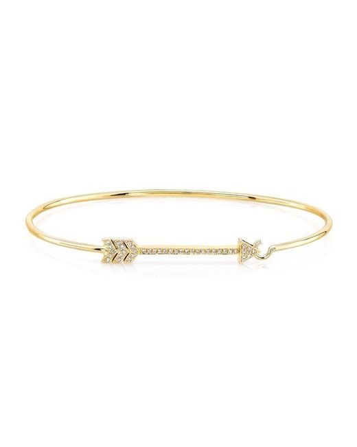 Anne Sisteron | Metallic 14kt Yellow Gold Diamond Cupid Bracelet | Lyst