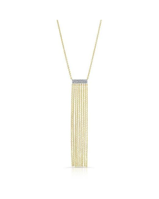 Anne Sisteron | Metallic 14kt Yellow Gold Diamond Temptress Necklace | Lyst