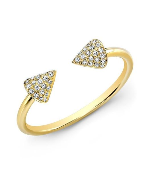 Anne Sisteron | Metallic 14kt Yellow Gold Diamond Taurus Ring | Lyst