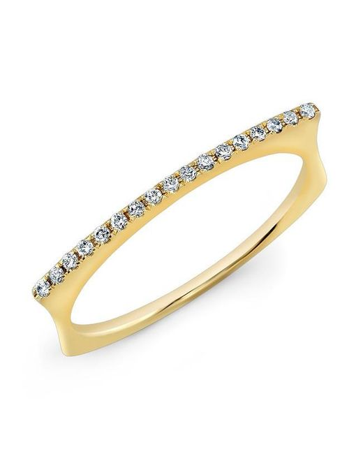 Anne Sisteron | Metallic 14kt Yellow Gold Diamond Bar Dome Ring | Lyst