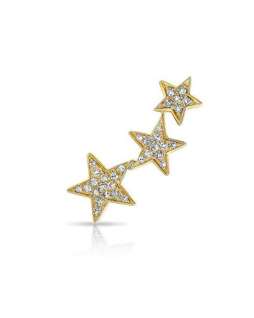 Anne Sisteron | Metallic 14kt Yellow Gold Diamond Etoile Ear Climber | Lyst