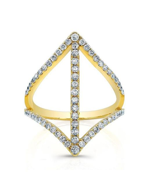 Anne Sisteron | Metallic 18kt Yellow Gold Diamond Spear Ring | Lyst