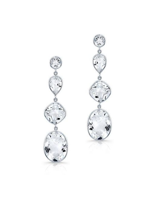 Anne Sisteron | 14kt White Gold White Topaz Quadruple Drop Earrings | Lyst