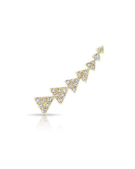 Anne Sisteron | Metallic 14kt Yellow Gold Diamond Triangle Ear Climber | Lyst