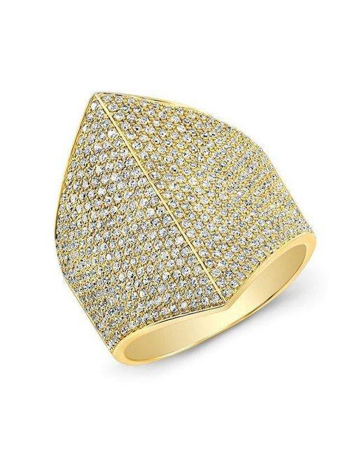 Anne Sisteron - Metallic 14kt Yellow Gold Diamond Helmet Ring - Lyst