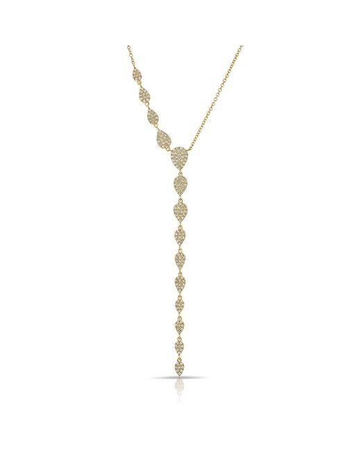 Anne Sisteron | Metallic 14kt Yellow Gold Diamond Pear Droplets Flirt Lariat Necklace | Lyst