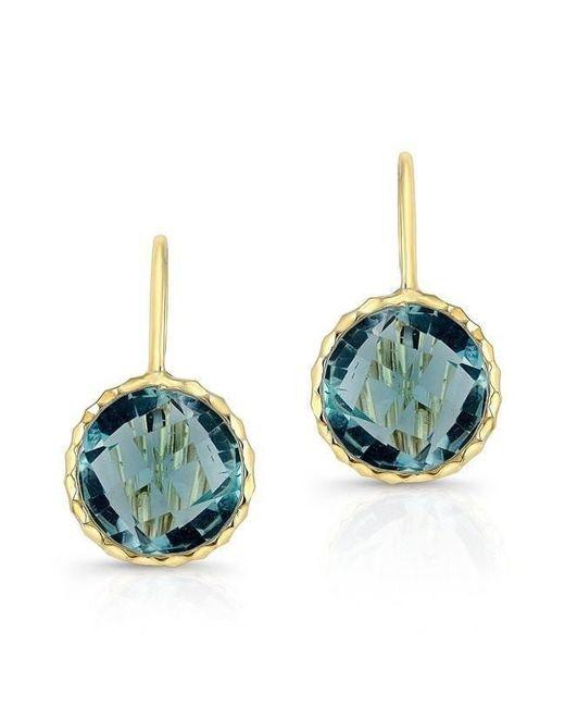 Anne Sisteron   14kt Yellow Gold Blue Topaz Earrings   Lyst