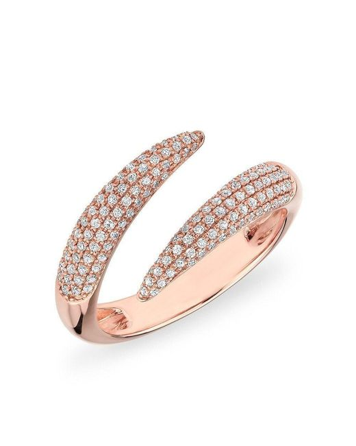 Anne Sisteron - Multicolor 14kt Rose Gold Diamond Claw Wrap Diamond Ring - Lyst