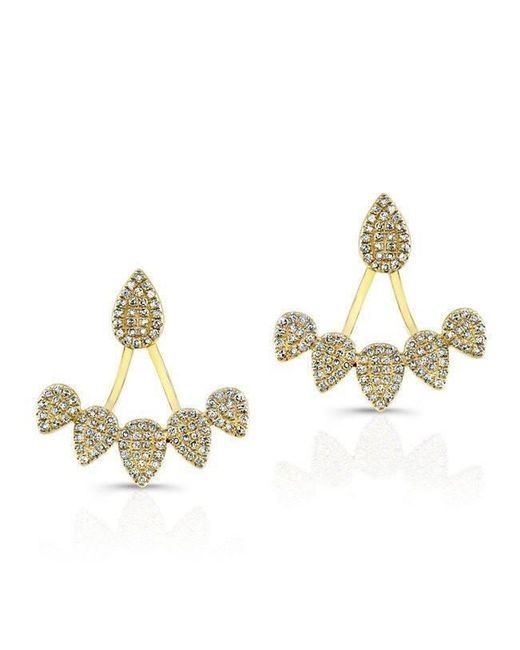 Anne Sisteron - Metallic 14kt Yellow Gold Diamond Tiara Floating Earrings - Lyst