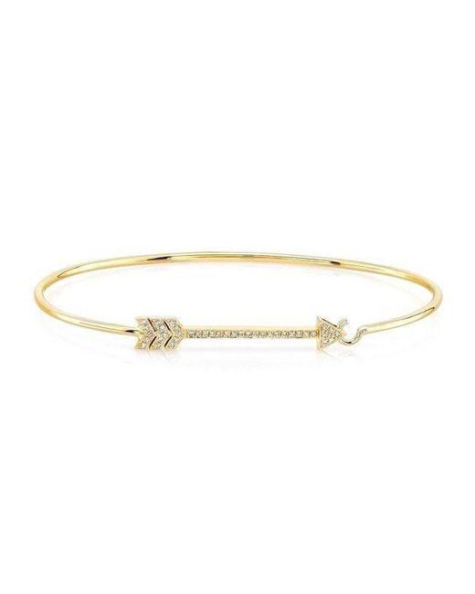 Anne Sisteron - Metallic 14kt Yellow Gold Diamond Cupid Bracelet - Lyst