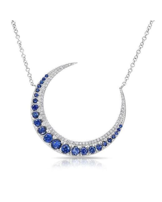Anne Sisteron - Multicolor 14kt Yellow Gold Sapphire Lunar Diamond Necklace - Lyst