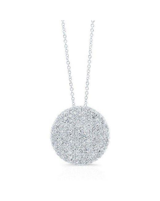 Anne Sisteron - Metallic 14kt White Gold Diamond Luxe Disc Necklace - Lyst