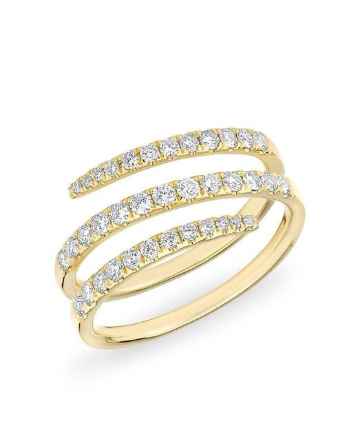 Anne Sisteron | Metallic 14kt Yellow Gold Half Diamond Spring Ring | Lyst