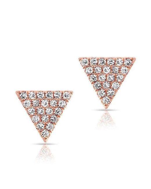 Anne Sisteron - Multicolor 14kt Rose Gold Diamond Small Triangle Emma Stud Earrings - Lyst