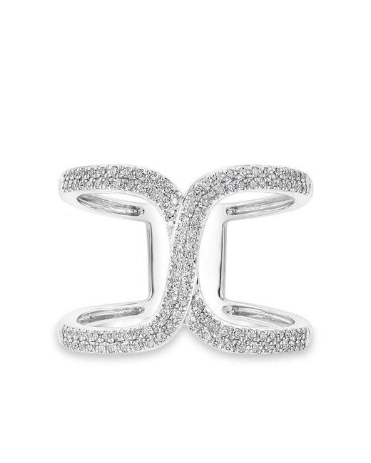 Anne Sisteron - Multicolor 14kt White Gold Diamond Double Horseshoe Ring - Lyst