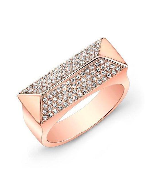 Anne Sisteron - Multicolor 14kt Rose Gold Diamond Pyramid Bar Ring - Lyst