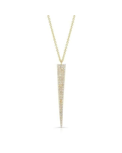 Anne Sisteron - Metallic 14kt Yellow Gold Diamond Long Triangle Necklace - Lyst