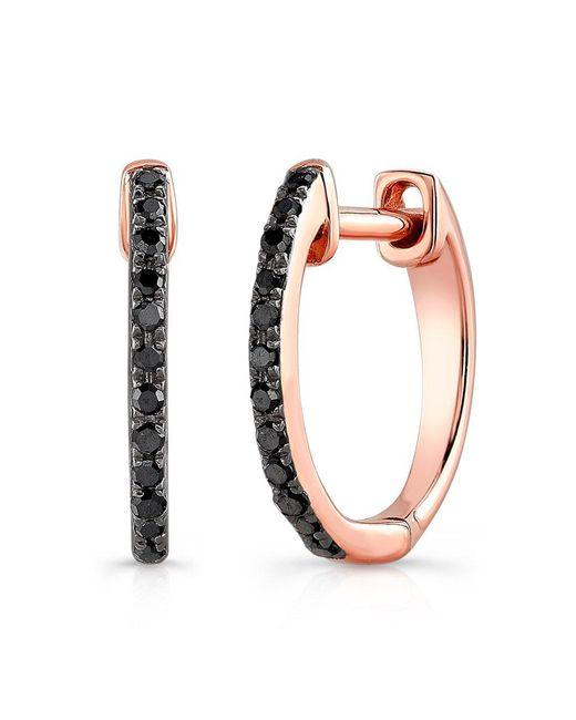 Anne Sisteron - Multicolor 14kt Oxidized White Gold Black Diamond Zoe Huggie Earrings - Lyst