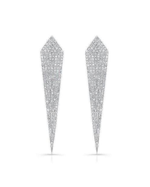 Anne Sisteron - Multicolor 14kt White Gold Diamond Spear Earrings - Lyst
