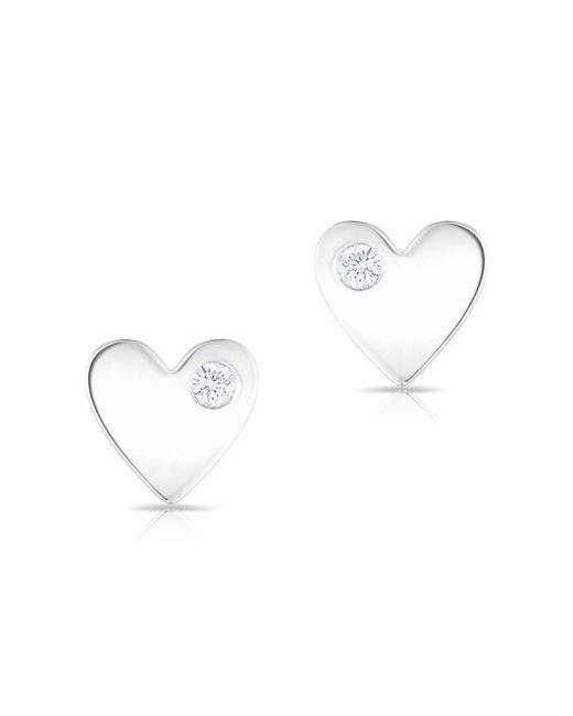 Anne Sisteron - Multicolor 14kt White Gold Diamond In My Heart Stud Earrings - Lyst