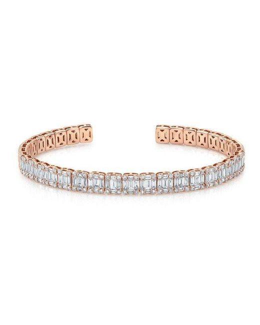 Anne Sisteron | Metallic 18kt Rose Gold Baguette Diamond Luxe Cuff Bracelet | Lyst