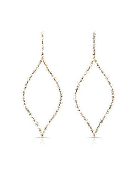 Anne Sisteron - Metallic 14kt Yellow Gold Diamond Open Marquis Earrings - Lyst
