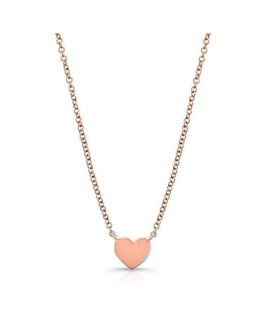 Anne Sisteron | Metallic 14kt Rose Gold Heart Necklace | Lyst