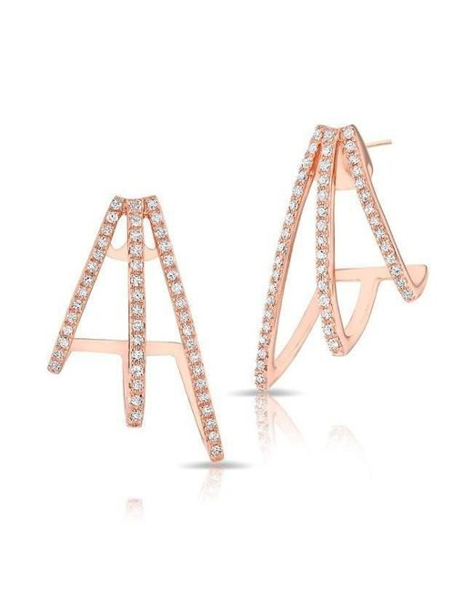 Anne Sisteron | Multicolor 14kt Rose Gold Diamond Voyage Stud Earrings | Lyst