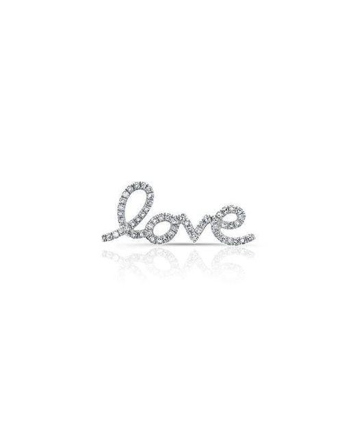 Anne Sisteron - Multicolor 14kt White Gold Diamond Love Ear Climber - Lyst