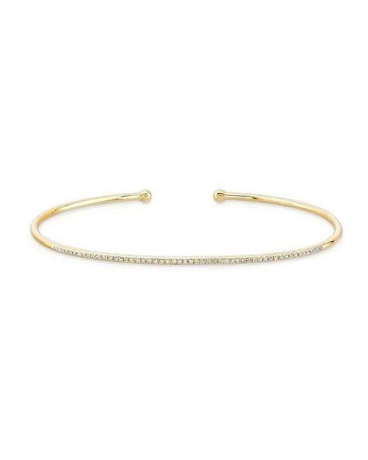 Anne Sisteron - Metallic 14kt Yellow Gold Diamond Angel Cuff - Lyst
