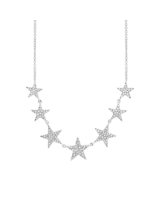 Anne Sisteron - Metallic 14kt White Gold Diamond Stars Necklace - Lyst