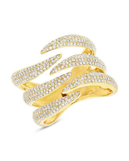 Anne Sisteron - Metallic 14kt Yellow Gold Diamond Flame Ring - Lyst