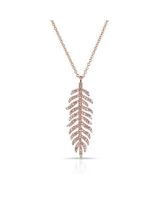 Anne Sisteron - Metallic 14kt Rose Gold Diamond Palm Necklace - Lyst
