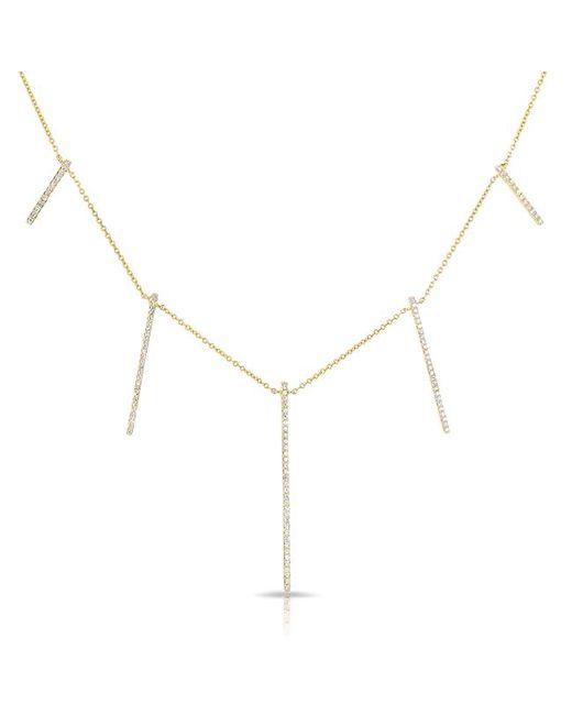 Anne Sisteron - Metallic 14kt Yellow Gold Diamond Dangling Long Bars Necklace - Lyst
