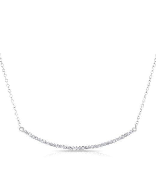Anne Sisteron - Multicolor 14kt White Gold Diamond Lash Crescent Necklace - Lyst