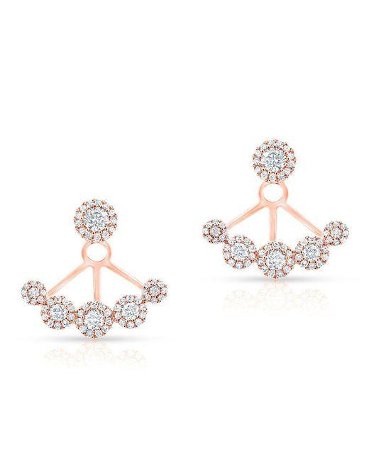 Anne Sisteron - Metallic 14kt Rose Gold Diamond Carissa Floating Earrings - Lyst