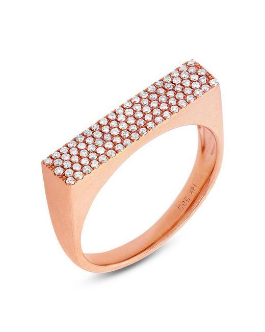 Anne Sisteron - Multicolor 14kt Rose Gold Diamond Brick Ring - Lyst