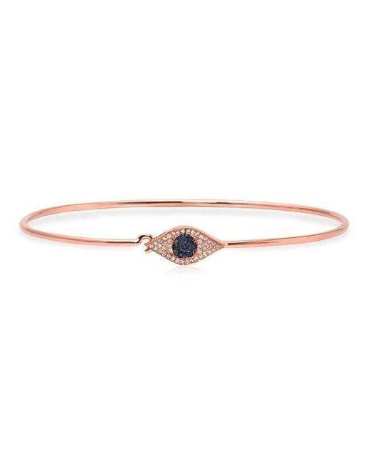 Anne Sisteron | Metallic 14kt Rose Gold Sapphire And Diamond Evil Eye Latch Bracelet | Lyst