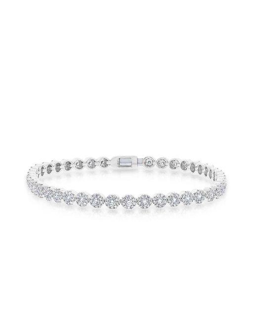 Anne Sisteron - Metallic 14kt White Gold Diamond Love Collection Tennis Bracelet - Lyst