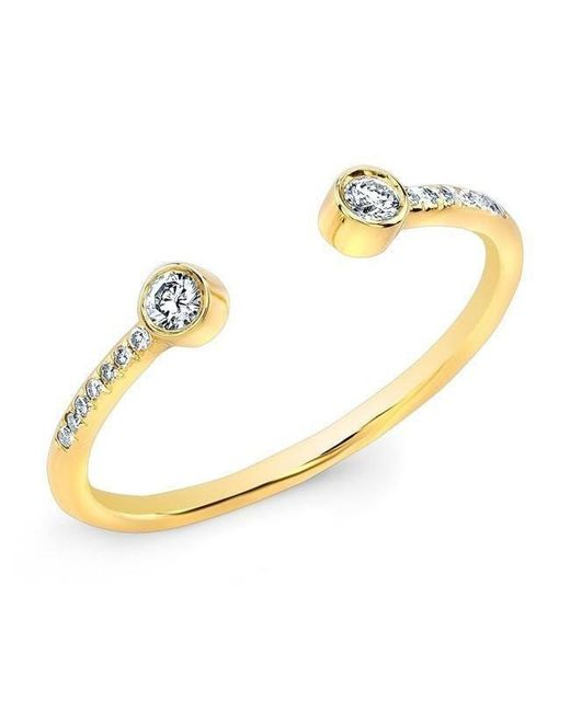 Anne Sisteron - Metallic 14kt Yellow Gold Diamond Circuit Ring - Lyst