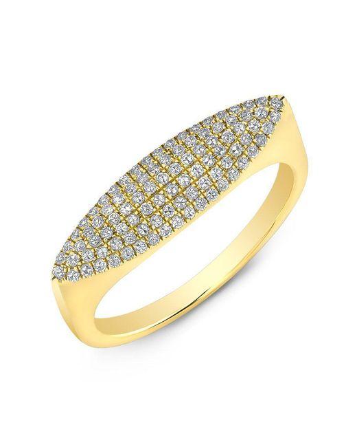 Anne Sisteron - Metallic 14kt Yellow Gold Diamond Capri Ring - Lyst