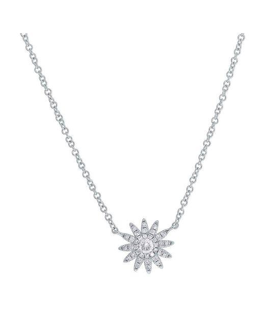 Anne Sisteron - Metallic 14kt White Gold Diamond Starburst Necklace - Lyst