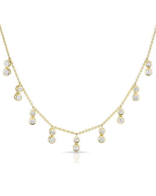 Anne Sisteron - Metallic 14kt Yellow Gold Diamond Bezel Drops Maisie Necklace - Lyst