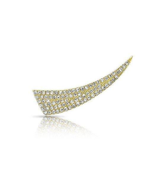 Anne Sisteron - Metallic 14kt Yellow Gold Diamond Horn Ear Climber - Lyst