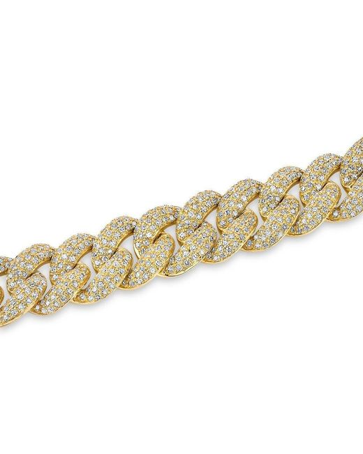 Anne Sisteron - Metallic 14kt Yellow Gold Diamond Amalie Chain Link Bracelet for Men - Lyst