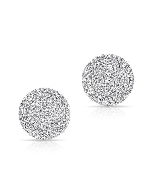 Anne Sisteron - Metallic 14kt White Gold Diamond Luxe Disc Stud Earrings - Lyst