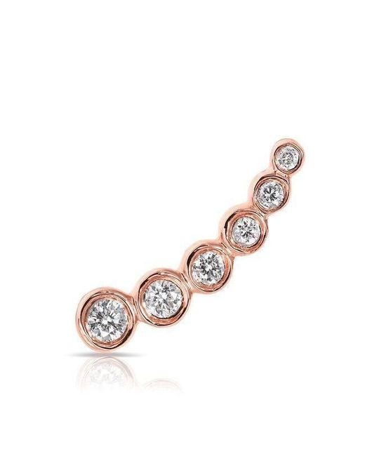 Anne Sisteron | Multicolor 14kt Rose Gold Diamond Mini Shooting Star Ear Climber | Lyst