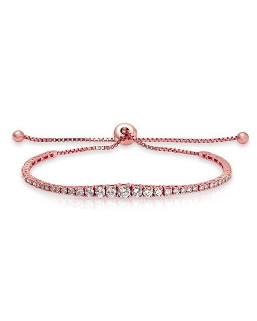 Anne Sisteron - Multicolor 14kt Rose Gold Diamond Tie Back Bracelet - Lyst