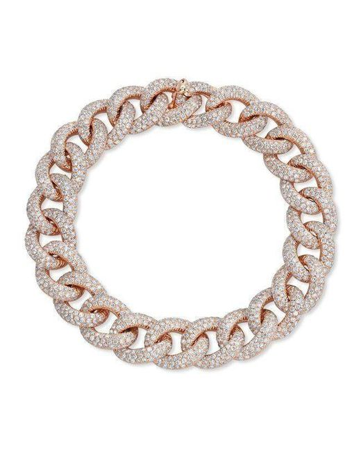 Anne Sisteron - Metallic 14kt Rose Gold Diamond Luxe Chain Link Bracelet - Lyst